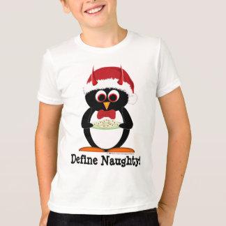 Camisa malvada del día de fiesta del pingüino de