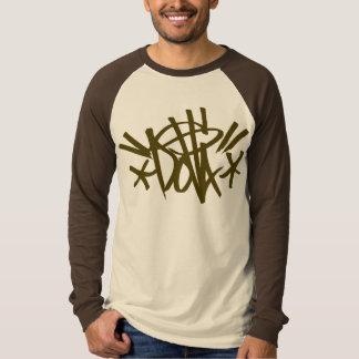 Camisa marrón de la etiqueta de DOLLA