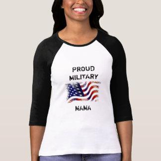 Camisa militar orgullosa de la mamá