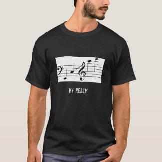 Camisa negra del cuerno de los hombres