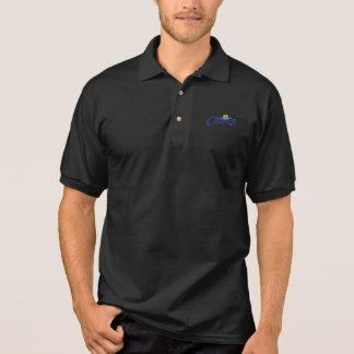 Camisa negra del golf de los hombres