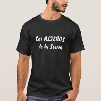 Camisa negra del Los ALTEÑOS de la Sierra