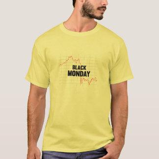 Camisa negra del mercado de acción de lunes