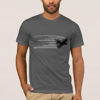 Camisa negra del pájaro
