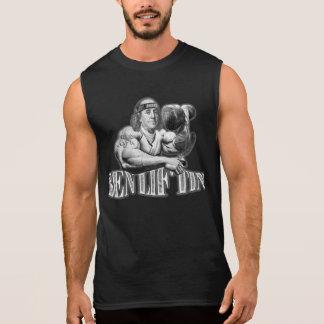 Camisa negra sin mangas del músculo de Ben Liftin