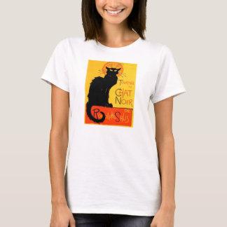 Camisa Noir de las señoras del gato negro de la