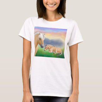 Camisa noruega de la muñeca de los caballos del