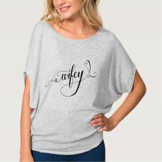 Camisa nupcial del regalo de Wifey de la ducha,