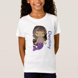 Camisa orgánica personalizada de los chicas de la