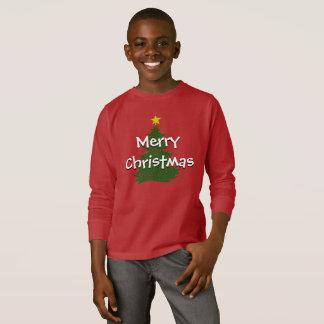 Camiseta Camisa oscura de los niños del navidad del autismo