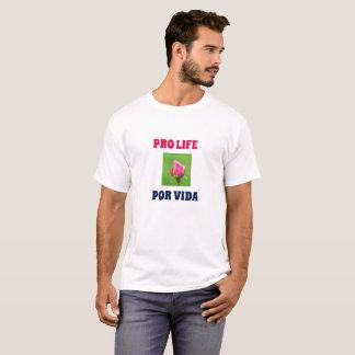 Camisa para hombre color de rosa bilingüe de la
