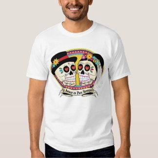 Camisa para hombre del cráneo del azúcar del Los