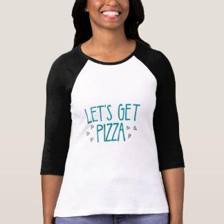 Camisa para mujer de la pizza