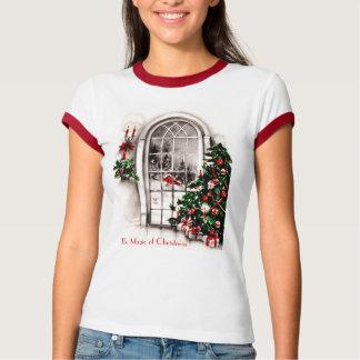 Camisa para mujer de la ventana del navidad