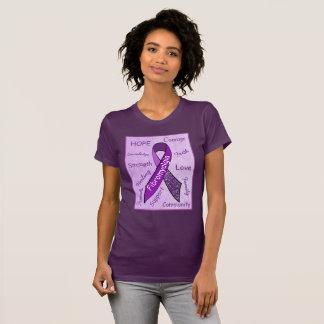 Camisa para mujer del Fibromyalgia púrpura de la