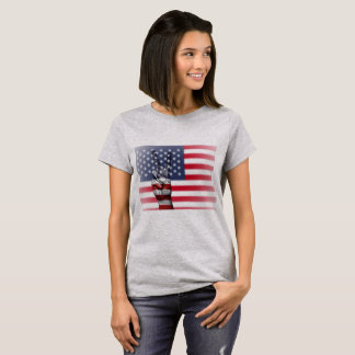 Camisa para mujer del signo de la paz de la