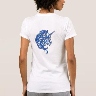 Camisa para mujer del unicornio tribal azul