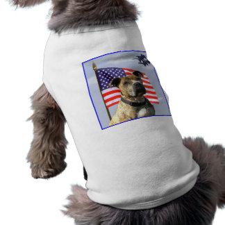 Camisa patriótica del perro del pitbull ropa de perros