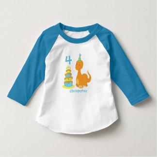 Camisa personalizada cumpleaños del dinosaurio -