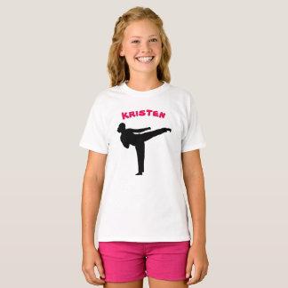 Camisa personalizada del chica del karate
