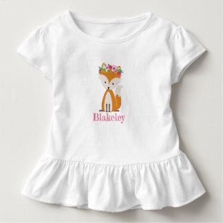 Camisa personalizada Fox del niño de Boho
