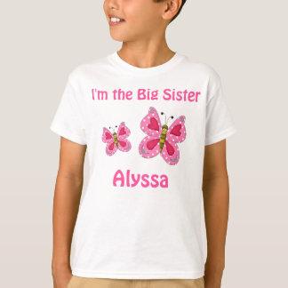Camisa personalizada mariposa del rosa de la