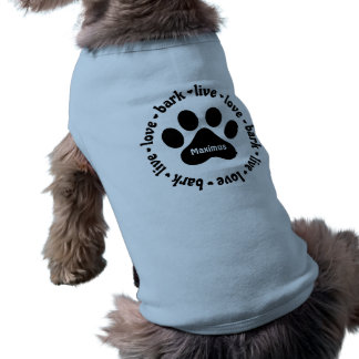 Camisa personalizada Pawprint viva del perro de la