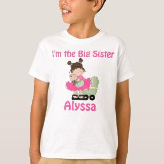 Camisa personalizada rosa de la hermana grande