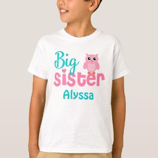Camisa personalizada trullo del rosa del búho de