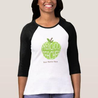 Camisa preescolar del profesor - Apple verde