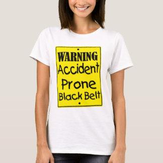 Camisa propensa a los accidentes amonestadora de