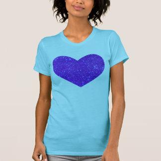 Camisa púrpura de la turquesa del corazón del