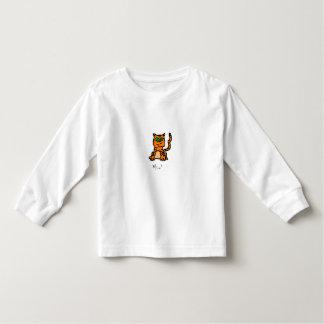 Camisa rayada del gatito del dibujo animado
