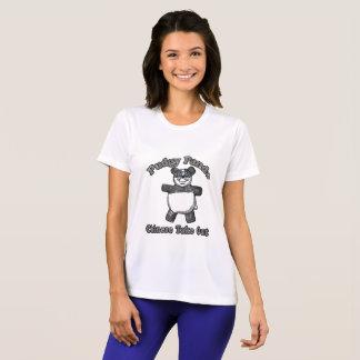 Camisa rechoncha de la panda del vintage