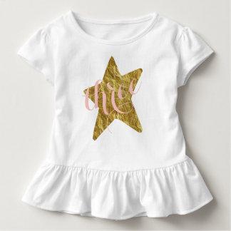 Camisa reluciente del cumpleaños del chica de la