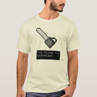 Camisa retra de la motosierra del videojugador