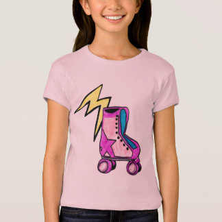 Camisa retra de Rollerskate del chica del