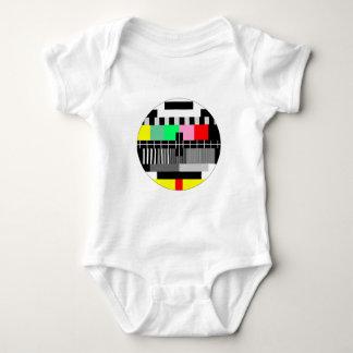 Camisa retra del bebé de la pantalla de la prueba