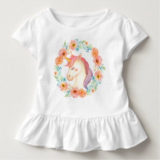 Camisa rizada guirnalda del unicornio de la