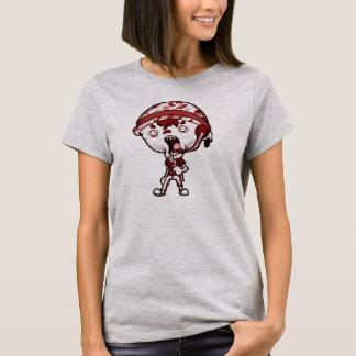 Camisa roja para mujer del gris ZLB (la tela añade
