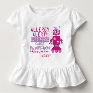Camisa rosada de la alarma de la alergia
