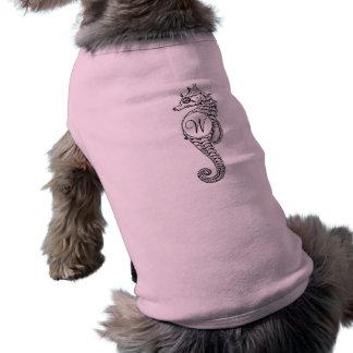 Camisa rubricada bosquejo del perrito del Seahorse