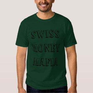 Camisa ruidosa de la mafia suiza del dinero