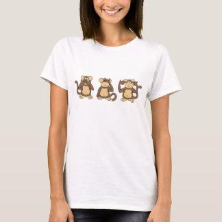 Camisa sabia de tres monos