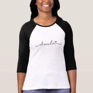 Camisa simple del béisbol de Doula con un corazón