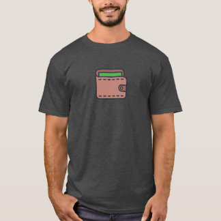 Camisa simple del icono de la cartera