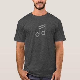 Camisa simple del icono de la nota musical