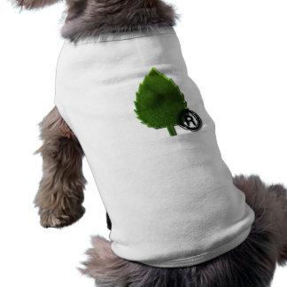 Camisa sostenible del mascota del ambiente camiseta de perrito