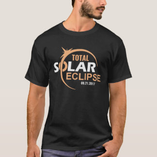 Camisa total 2017, eclipse solar del eclipse solar