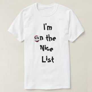 Camiseta Camisa traviesa o Niza del día de fiesta de los